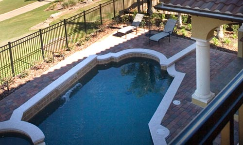 Swimming pool design for florida home construction
