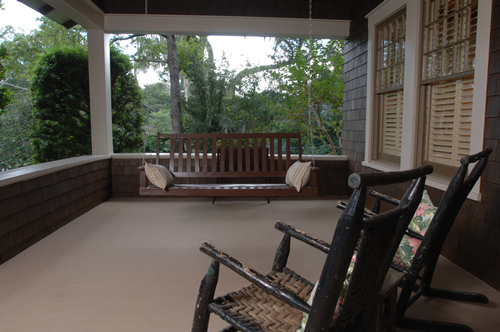 Large patio for a new custom florida house