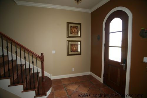 Front entry with grand staircase for new home