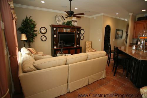 Dining and living room design plan in florida