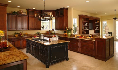 Kitchen counter design for new home plans