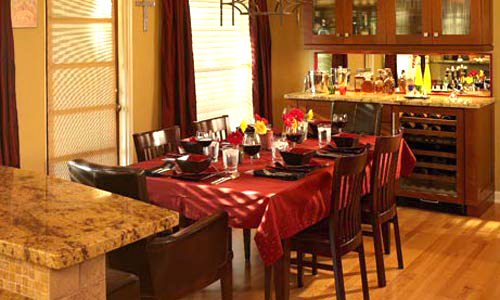 Dining room design and construction remodeling
