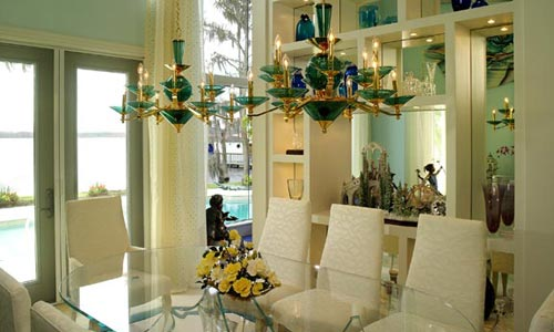 Fancy dining room design and construction for florida home