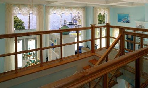 Upstairs balcony for new custom home