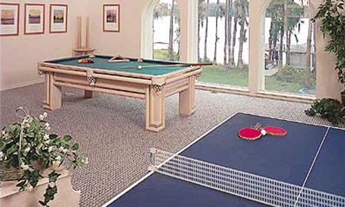 Ping Pong table and recreation room builder