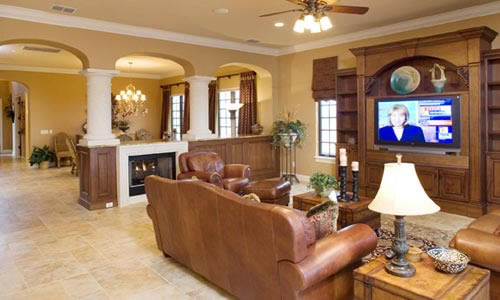 Media entertainment room addition for florida home owner