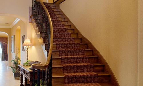 fine entry with grand staircase contractor