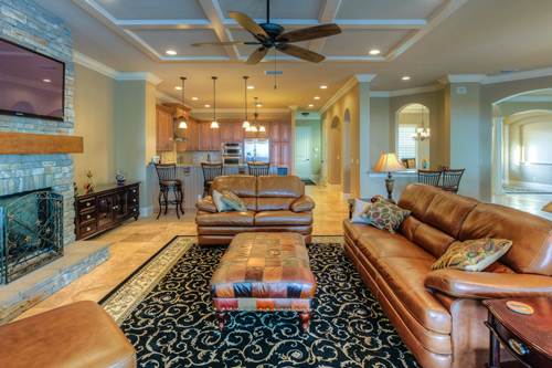 Family and media room custom builder orlando, florida