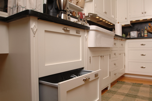 Custom trim and cabinetry woodwork for kitchen