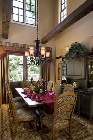 Open To The Great Room Dining Has A Two Story Ceiling That Incorporates