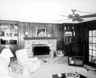 The family room before renovation.