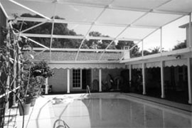 The porch and pool before.