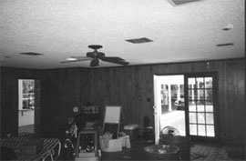 The recreation room before.
