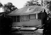 The rear of the existing house before construction.