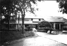 The front exterior of the residence before renovation.