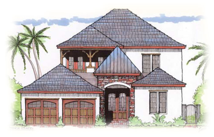 Custom home plans in orlando and central florida for Custom french country house plans