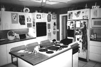 The kitchen before construction.