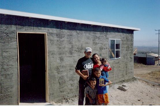 The family for whom Paul helped build a house in Tijuana, Mexico.